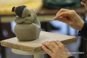 Céramique, en cours (photo Marc Nguyen)